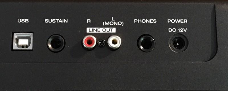 Alesis Recital connectivité